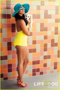 Jordin sparks Life Dog Mag4 200x300 Hot Shots:  Jordin Sparks Strikes a Pose For Pooches