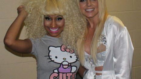 Hot Shot: Britney Spears & Nicki Minaj Pose It Up In Toronto