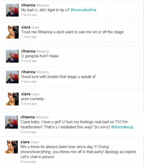 ciara rihanna twitter beef e1312374520997 TMI: Is Twitter Ruining The Pop Star?