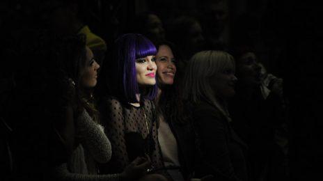 Hot Shots: Jessie J Glows In The Dark At London Fashion Week