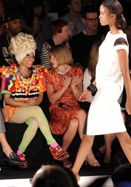 Nicki and Anna Wintour2 Hot Shots: Nicki Minaj Gets Fashion Forward With Anna Wintour