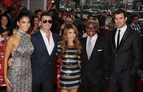 X FACTOR USA PREMIERE Hot Shots: X Factor USA Cast Gleam At Premiere
