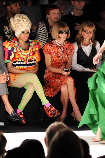 nicki anna 21 Hot Shots: Nicki Minaj Gets Fashion Forward With Anna Wintour