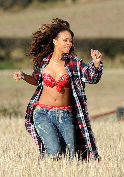 rihanna films we found love Watch: Rihanna On The Set Of We Found Love Video