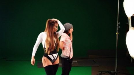 Hot Shot: J.Lo Goes 'Hard' On Set Of Will.i.am Video
