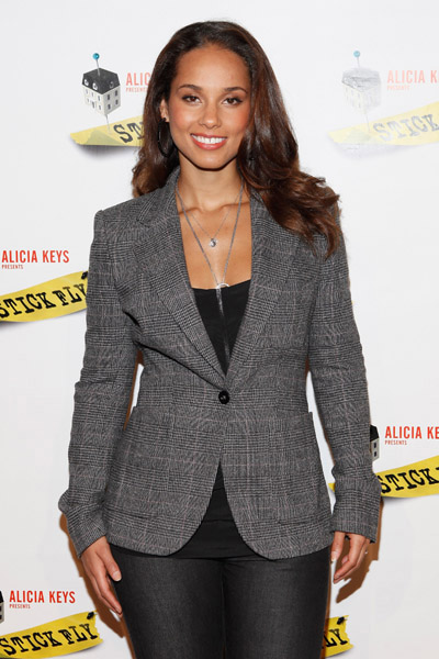 stick fly photo call 1 Hot Shots:  Alicia Keys Keeps It Fly