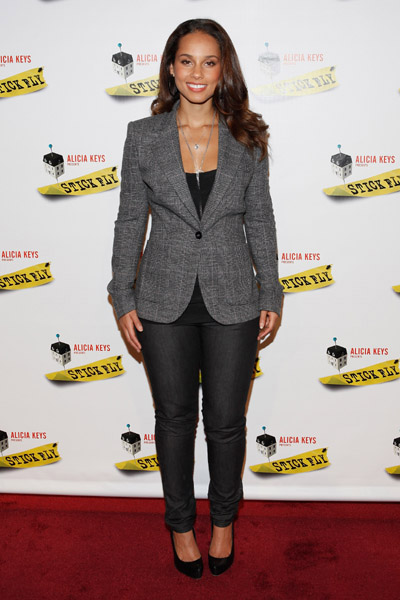 stick fly photo call 2 Hot Shots:  Alicia Keys Keeps It Fly