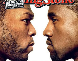 '50 Cent vs Kanye West' Rolling Stone Cover
