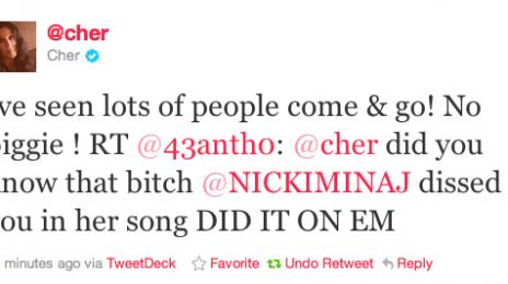 Cher And Nicki Minaj Clash On Twitter