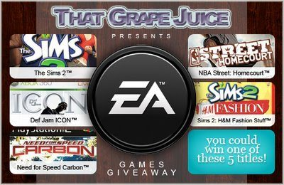Reminder: EA Games Give-Away!