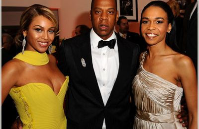 Beyonce, Jay-Z & Michelle At Sony BMG Party