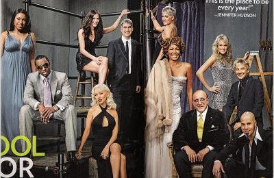 Clive Davis Arista Family Portrait For People Magazine: Jennifer Hudson, Whitney, Christina, Diddy and More..