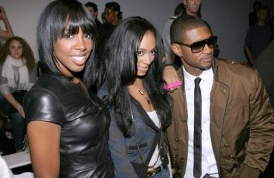 Kelly, Usher, Solange & Ne-Yo At Fashion Show