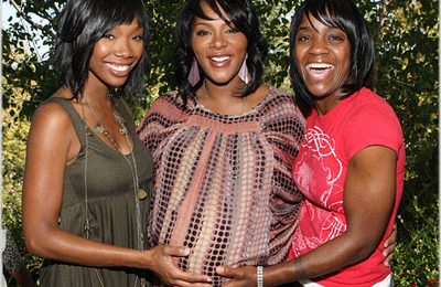 Brandy Hosts Baby Shower For Omar Epps