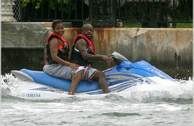 Janet and Jermaine Miami Candids