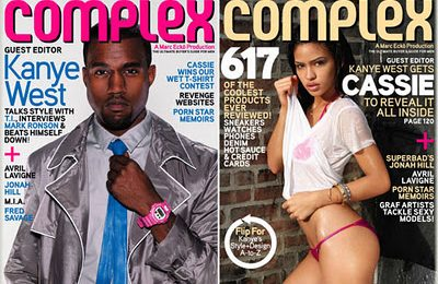 Kanye West & Cassie Cover Complex Magazine
