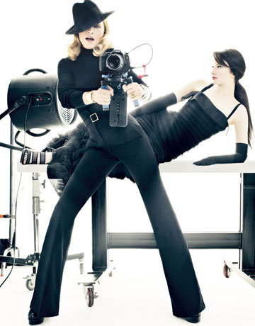 madonnaharper 1 Hot Shots: Madonna Makes Moves With Harpers Bazaar *Updated*