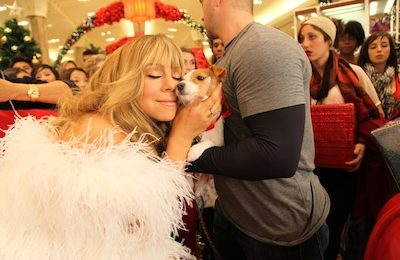 Hot Shots: Mariah Carey Shoots 'Festive' Video With Justin Bieber
