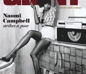 Naomi Campbell Covers Giant