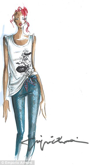 rihanna for armani 1 Rihanna Designs For Armani
