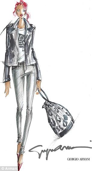 rihanna for armani 2 Rihanna Designs For Armani
