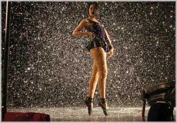 Rihanna On The Set of 'Umbrella' Video