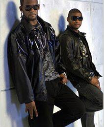 R. Kelly & Usher On Set of 'Same Girl' Video