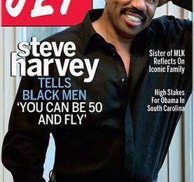 Steve Harvey Is '50 & Fly' On Jet Cover