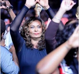 Randomness: Tina Knowles Throws Up The 'Roc'