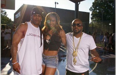 Nelly, Ciara & JD On Set Of 'Stepped On My Jays' Video