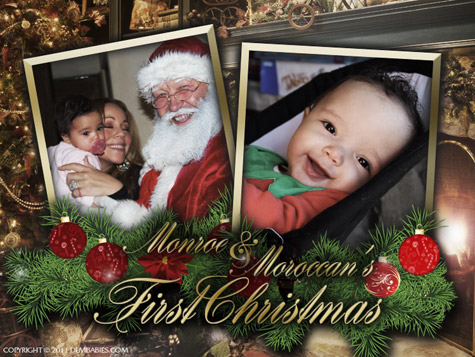 DEM BABIES MARIAH AND NICK Hot Shots: Mariah Carey Celebrates First Christmas With Dem Babies