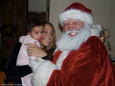 MARIAH CELEBRATES FIRST CHRISTMAS WITH BABIES THAT GRAPE JUICE Hot Shots: Mariah Carey Celebrates First Christmas With Dem Babies