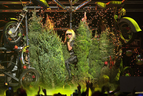 lady gaga jingle Watch: Lady GaGa Gets Festive With Jingle Ball Performance
