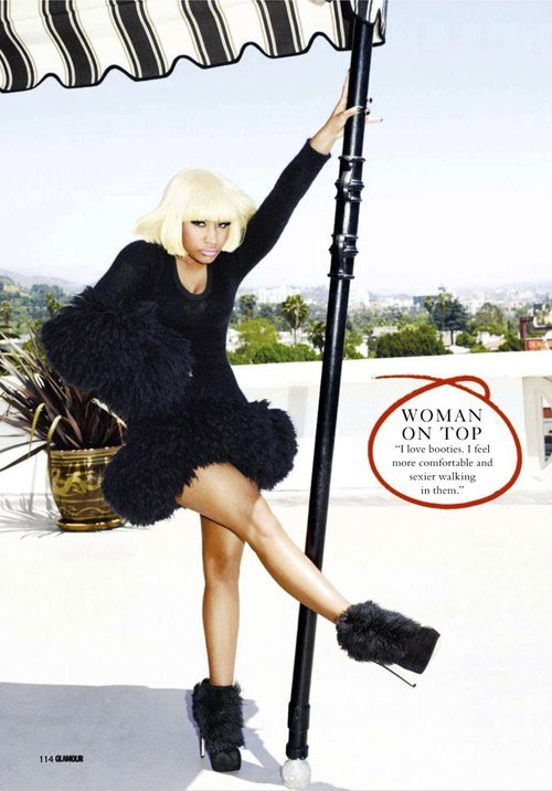nicki minaj glamour 0112 2 Hot Shots:  Nicki Minaj Guests Glamour UK Magazine, Readies Fashion Line
