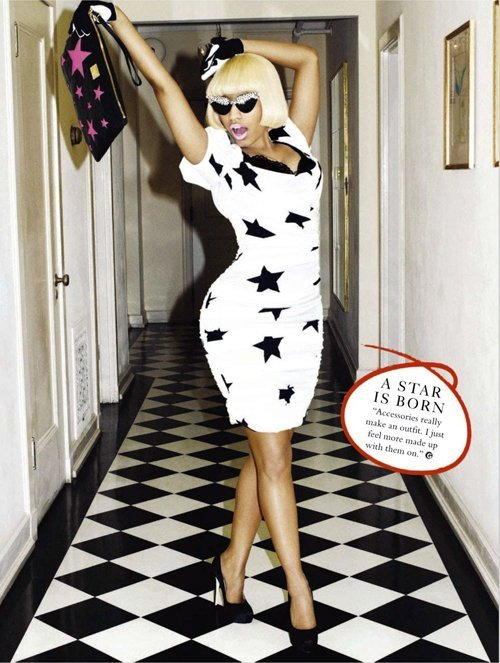nicki minaj glamour 0112 4 Hot Shots:  Nicki Minaj Guests Glamour UK Magazine, Readies Fashion Line