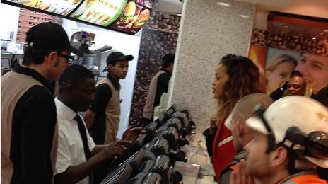 Hot Shot: Rihanna Celebrates End of Tour In McDonald's