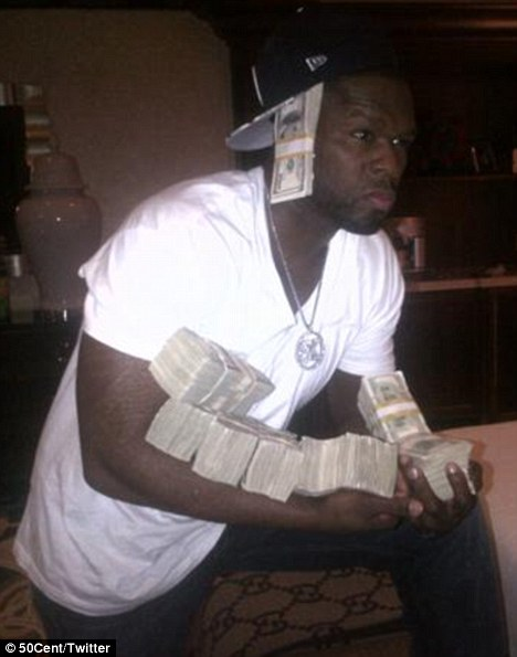 50 cent as Hot Shots: 50 Cent Flaunts Stacks Of Cash In Vegas