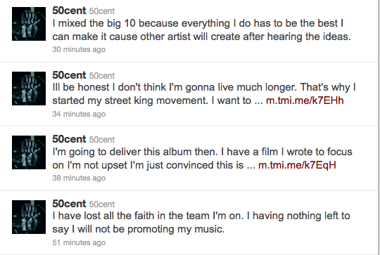 50 cent met 50 Cent Has Twitter Melt Down / Declares: I Dont Think Im Going To Live Much Longer