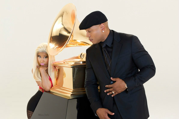 LL COOL J AND NICKI MINAJ GRAMMY PROMO Hot Shot: Nicki Minaj Joins LL Cool J For Grammy Promo
