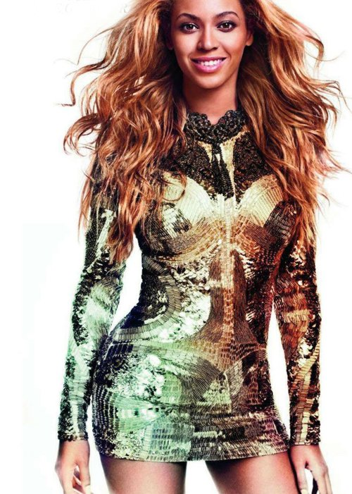 beyonce for glamour paris february 2012 1 Beyonce Beams For Downtown Magazine, Graces Glamour Paris