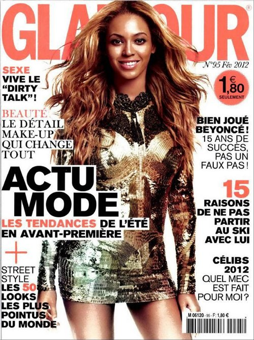 beyonce glamour france 0212 3 Beyonce Beams For Downtown Magazine, Graces Glamour Paris