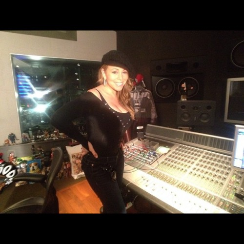 marah carey 8u e1327660130685 Hot Shots: Mariah Carey Hits The Studio With Jermaine Dupri