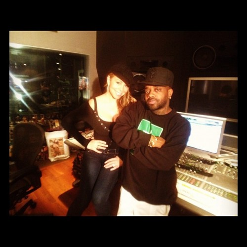mariah carey 654 e1327658487986 Hot Shots: Mariah Carey Hits The Studio With Jermaine Dupri