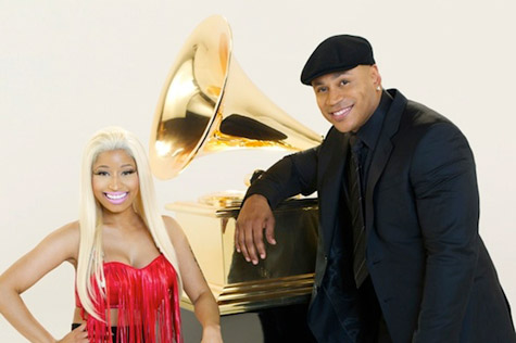 nicki ll cool j grammys courtesy of RU Watch: Nicki Minaj Grammy 2012 Commercial