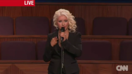 Watch: Christina Aguilera Performs 'At Last' At Etta James' Funeral