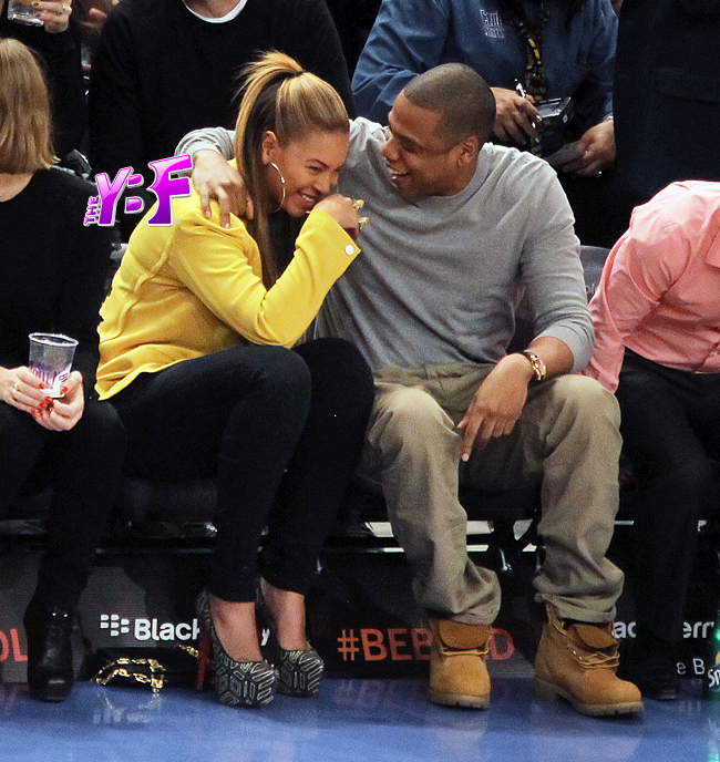 2f9e5dac Hot Shot:  Beyonce And Jay Z Coupled Up Courtside