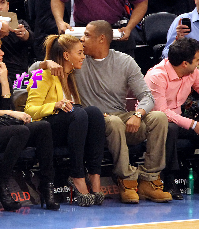 3e94d624 Hot Shot:  Beyonce And Jay Z Coupled Up Courtside
