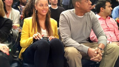Hot Shot:  Beyonce And Jay Z Coupled Up Courtside