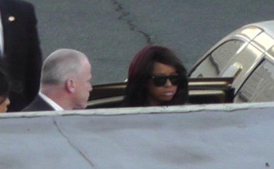 bobbi kristina whitney Friends & Family Say Goodbye To Whitney Houston At Wake