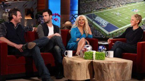 Watch: 'The Voice' Judges Drop By Ellen